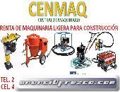 RENTA DE MAQUINARIA LIGERA PARA CONSTRUCCIÓN