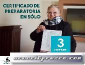 Certificado de prepa en tres meses