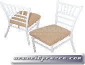 Vendo sillas resistentes elegantes para eventos