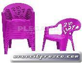 Venta de sillas estibables infantiles de colores