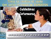 Personal de enfermeria y cuidadoras a domicilio y en hospitales