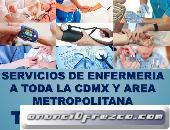 Enfermeras y cuidadores a domicilio y en hospitales CDMX