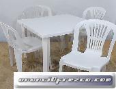 Sillas y mesas de plastico al mejor precio