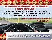 SOLICITAMOS INSTRUCTORES  PARA CLASES DE MANEJO