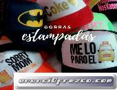 Gorras estampadas y sublimadas