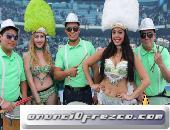 Show de Batucada, samba, músicos, bailarinas para publicidad