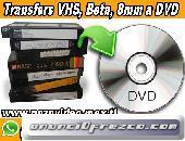 *TRANSFERS VHS, BETA, 8mm a DVD ó MP4*