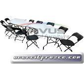 Mesas y sillas para fiestas practicas