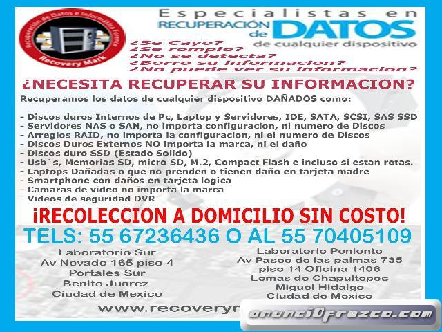 Laboratorio especializado forense- Recovery Mark