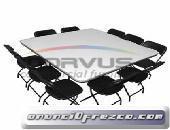 Venta de sillas y mesas para alquiler practicas