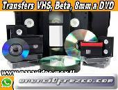 TRANSFERS VHS, BETA, 8mm a DVD ó MP4
