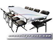 Invierta en mesas y sillas resistentes