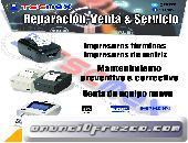 Venta y reparación de impresoras térmicas y de matriz.