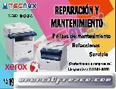 Mantenimiento correctivo y preventivo a equipo de impresión XEROX