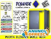 PUERTA BLINDADA DE DOBLE HOJA TOJANDE