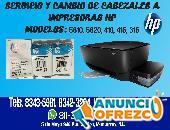 Servicio y Cambio de Cabezales a Impresoras HP.
