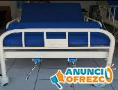 Cama hospitalaria mecánica con barandales desmontables accesorios y colchón
