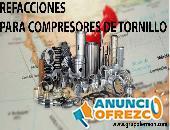 REFACCIONES PARA COMPRESORES DE TORNILLO