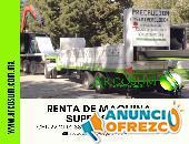 RENTA DE MÁQUINA SUPER SPAN