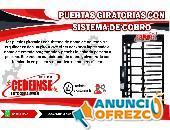 PUERTA GIRATORIA CON SITEMA DE CONTROL DE COBRO