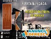 PUERTA BLINDADA ACABADO EN CHAPA DE MADERA